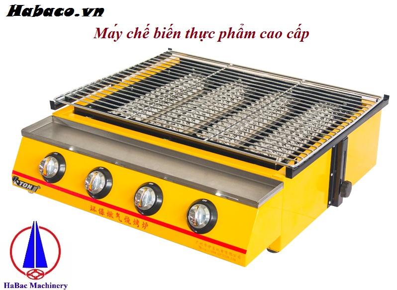 Bếp nướng hàu dùng gas bốn đầu đốt 0981268983