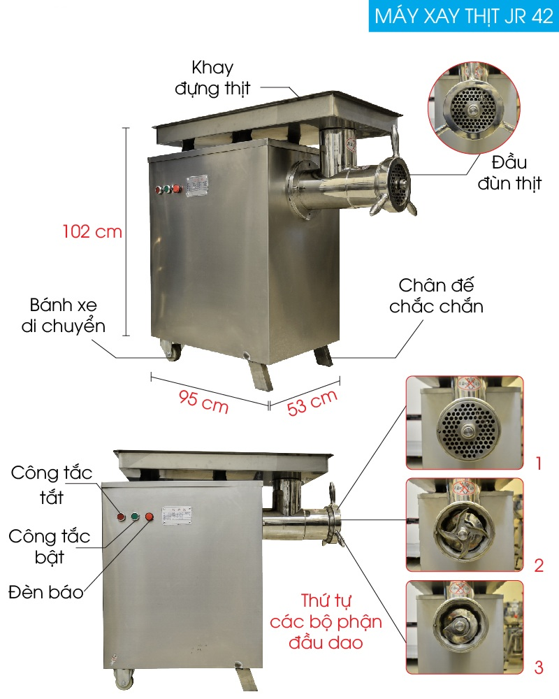 Máy xay thịt JR42 công nghiệp