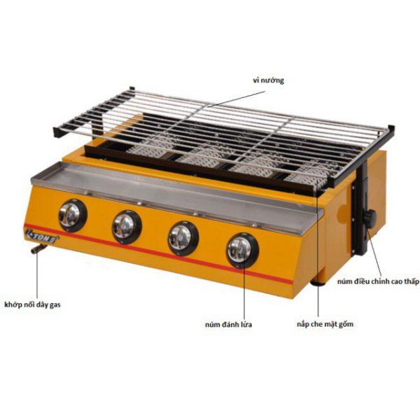 bếp nướng hàu dùng gas