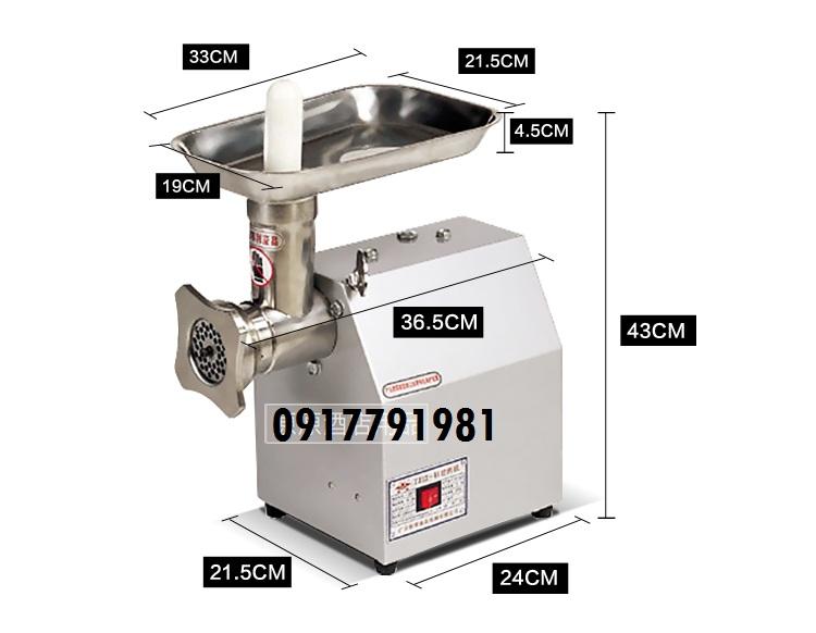Cách xay thịt làm xúc xích nhanh từ máy xay thịt công nghiệp TC12